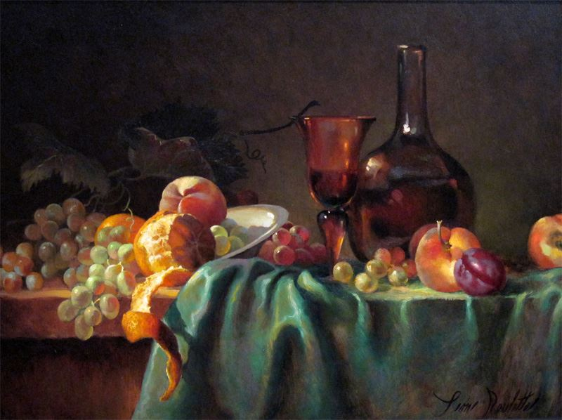 Still Life With Oranges And Grapes Painters Chair Fine