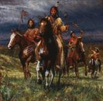 Picture of War Party Rides - Lakota