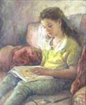 Picture of Little Girl Reading