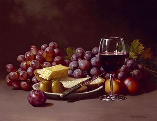 Picture of Cheese & Grapes