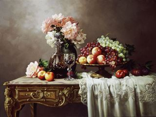 Picture of Fruits & Peace Roses