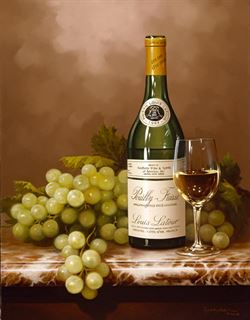 Picture of Green Grapes & Wine