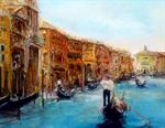 Picture of Venice Calm Waters Oil on board