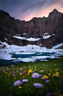 Picture of Iceberg Lake Sunset
