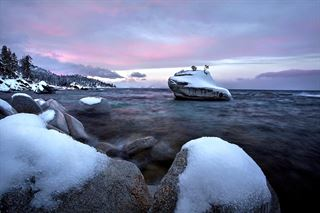 Picture of Winter Sunrise, Bonsai Rock