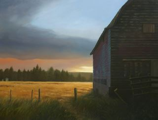Picture of Old Barn Sunset - SOLD!!