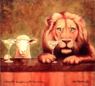 Picture of Peaceable Kingdom with Two Olives