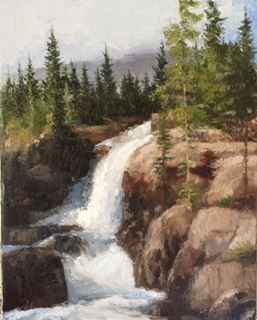 Picture of Rocky Mountain Waterfall