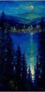 Picture of Night Lights, Coeur d'Alene